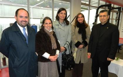 Javier Molina, Mónica Astorga, Florencia Jofré, Deborah Pavesi, Padre Luis Riffo.