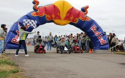 Meta de la carrera de carros