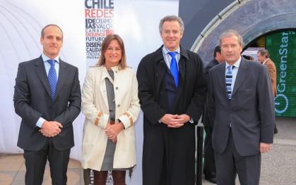 Andrés Pesce, M.Ignacia Benítez, Federico Valdés y Francisco Sánchez