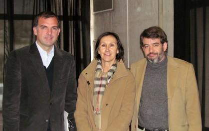 Ernesto Silva, Ana María Paiva y Armando Roa