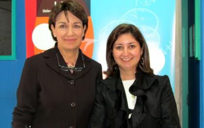 Isabel Garretón junto Loreto Valderrama, Coordinadora de Planificación de la Vicerrectoría de Innovación