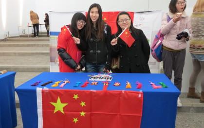 Stand de alumnos de China