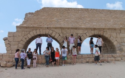 Grupo chileno en Cesarea