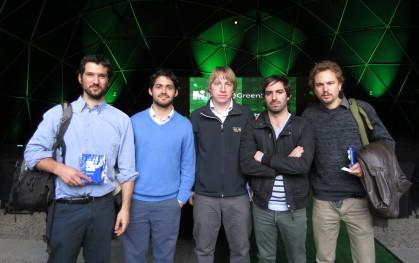 Juan José Williams, Juan Ignacio Hinojosa de Fundación Chile, Max Vicuña, Mauricio Olivares y Álvaro Zulueta