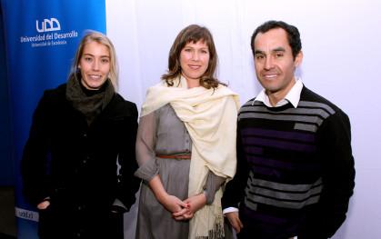 María Pía Kralemann, Ximena Ballivian y Miguel Fuentes