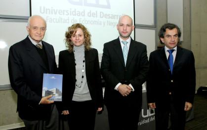 Ramón Florenzano, María Elena Bossier, Ernesto Amorós y Sergio Hernández