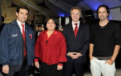 Felipe Sánchez, Andrés Catalán, Federico Valdés y Pedro Pineda