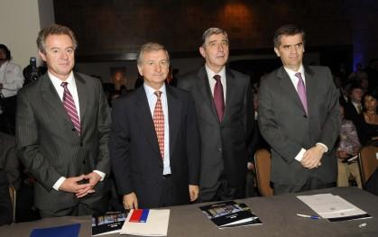 Federico Valdés, Felipe Larraín, Cirilo Córdova y Rodrigo Vergara