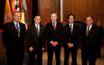 Autoridades en ceremonia de inauguración Provial 2012