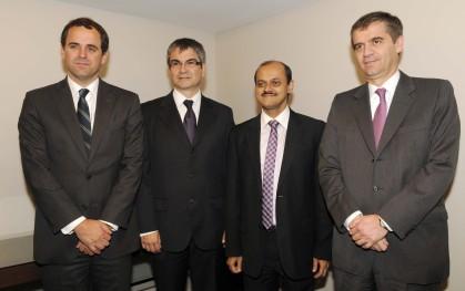 Rodrigo Castro, Mario Marcel,  Samiran Chakraborty  y Rodrigo Vergara