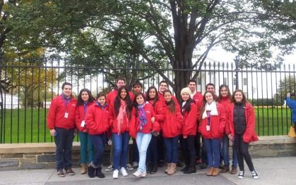 Los alumnos de Periodismo en la Casa Blanca