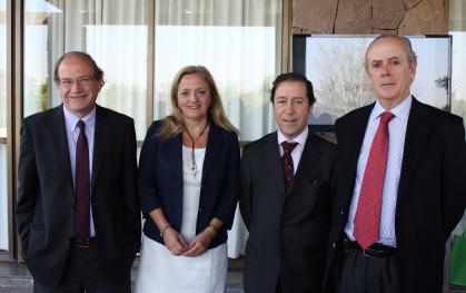 Pablo Vial, Liliana Jadue, Sebastián Balmaceda y Juan José Mc Auliffe