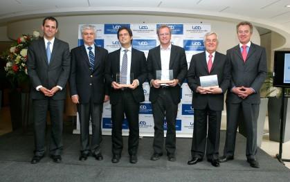 Rodrigo Castro, Carlos Eugenio Lavín, Diego Valenzuela, Felipe Kast, Roberto Angelini y Federico Valdés