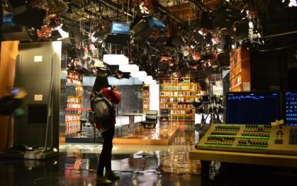 Una alumna en el estudio de televisión de NBC