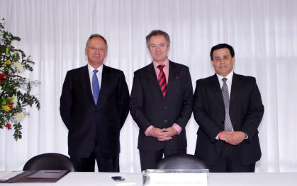 José Manuel Robles, Federico Valdés y Pedro Silva