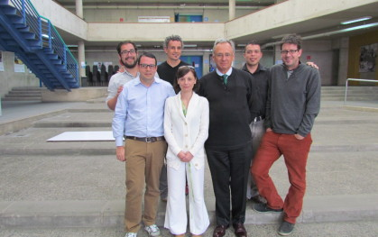 TED Fellows junto al decano de Ingeniería, José Manuel Robles