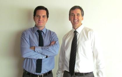 El director de iCubo, Felipe Jara, junto a Tom Byers