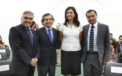 Luis Vicentela, Sergio Hernández, Florencia Jofré y Pablo Vargas