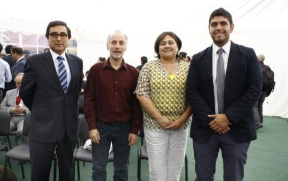 Marcelo Sandoval, Jorge Tagle, Andrea Catalán y Felipe Parra