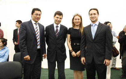 Patricio Gómez, Bruno Caprile, Carla Gómez y Emilio Armstrong