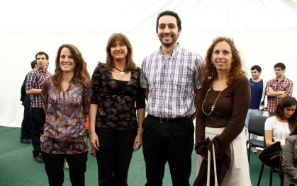 Paulina Artigas, Deborah Pavesi, Patricio Ramírez y Ana María Lapostol