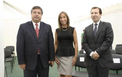 Roberto Coloma, Barbara Ivanschitz,  y Pablo Millan