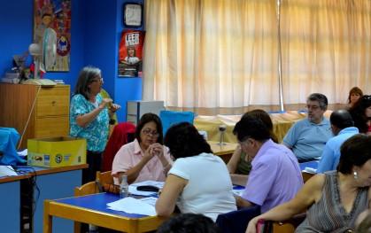 Profesores durante la capacitación