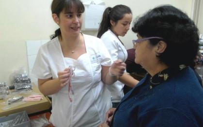 Coordinadora de la especialidad y paciente