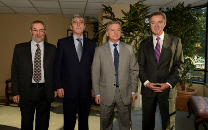 Cristóbal Philippi, Cirilo Córdova, Felipe Larraín y Federico Valdés