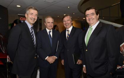 Eduardo Chadwick, Francisco León, Enrique Valdivieso y Fernando García Huidobro