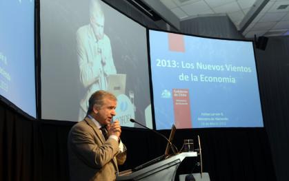 El ministro de Hacienda, Felipe Larraín