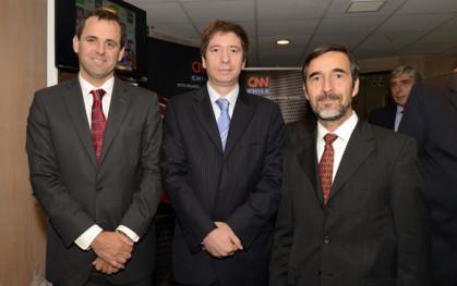 Rodrigo Castro, Francisco Santibáñez y Cristián Echeverría