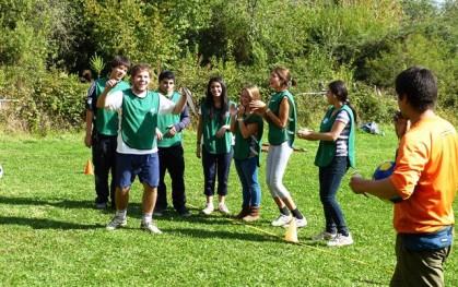 Los alumnos en una actividad
