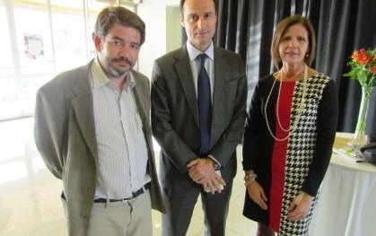 Armando Roa, Juan Eduardo Vargas y Marianne Stein