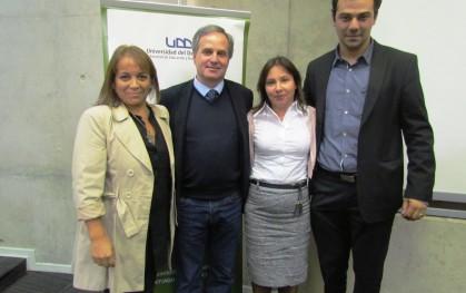 Bernardita Hernández, Rui Martins, Tatiana Gurovich y Nicolás Lemus