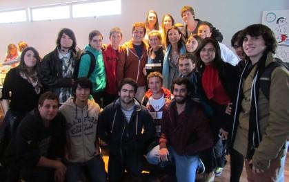 Los alumnos con Carolina Schmidt