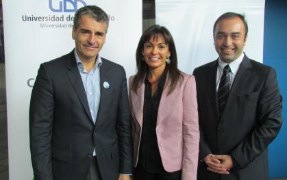 Andrés Velasco, Carolina Mardones y Rodrigo Arellano