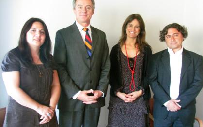 Giovanna Silva, Federico Valdés, Teresita Serrano y Felipe Lecannelier