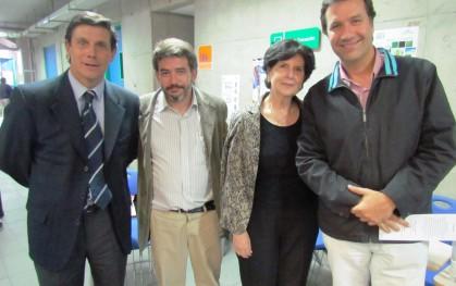 José Santiago Arellano, Armando Roa, Gloria Carranza y Alvaro Pacull