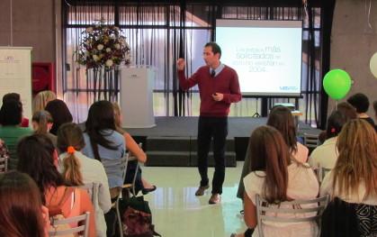 Juan Carlos Gacitúa en su presentación