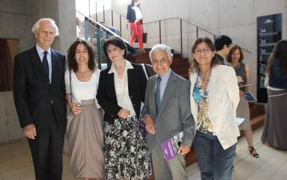 Francisco Claro. Josefina Santa Cruz, Gloria Carranza, Juan Pablo Beca y Carmen Astete