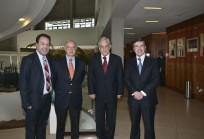 Gonzalo Müller, Hernán Cheyre, Sebastián Piñera y Joaquín Lavín.
