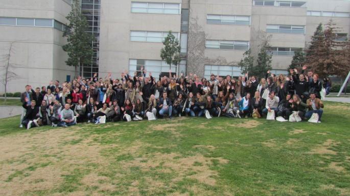 Alumnos internacionales en Santiago