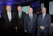 Ministro Jorge Burgos, Federico Valdés, José Miguel Insulza y Cristián Bastián