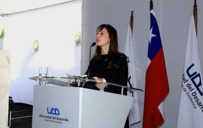 La coordinadora de Odontología, Marcela Oyarzún