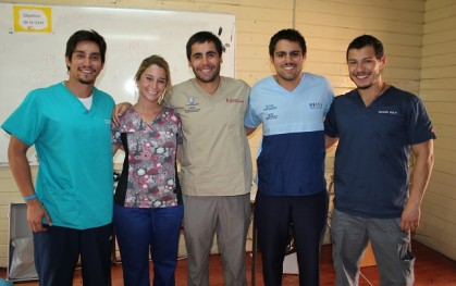 Bryan Maquiera, Roberta Marcone, Rodrigo Haristoy, Nicolás Feres y Gonzalo Cid.
