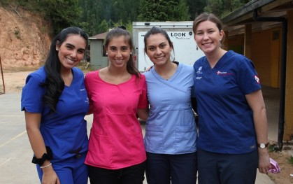 Constanza Correa, Magdalena Quiroga, Paulina Melo y Consuelo Stemberga.