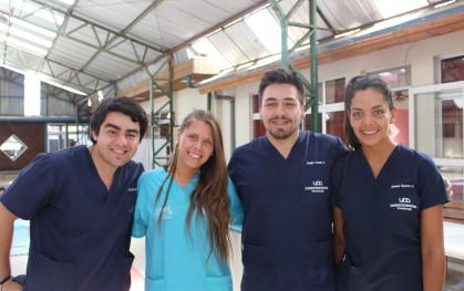 Sonrie UDD en Coihueco (VIII Región) Giorgio Ferrari, Bárbara Carniglia, Felipe Cerda y Javiera Oportus.