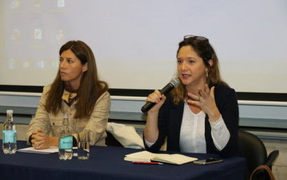Karim Gálvez y Mónica Pérez