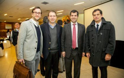 Francisco Allard, Guillermo Guerrero, Pelayo Covarrubias y Martín Santa María